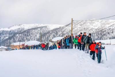 9. Çağrankaya Kar Yürüyüşü Faaliyetimiz Yapıldı