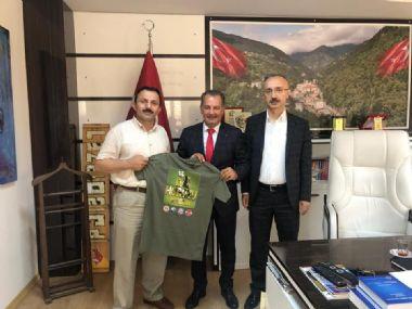 R.T.E. Üniv. Rektör Yardımcılarından İkizdere Belediye Başkanlığına Ziyaret